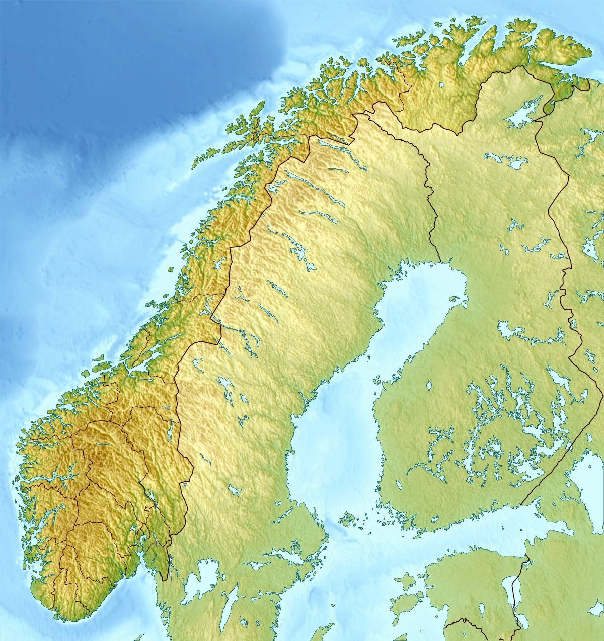 Norway Topographic Map Norway Topo Map Northern Europe Europe