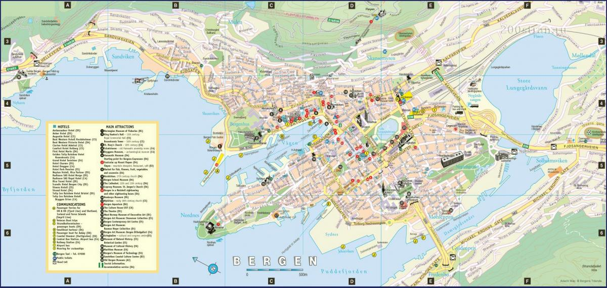 bergen Norway city map