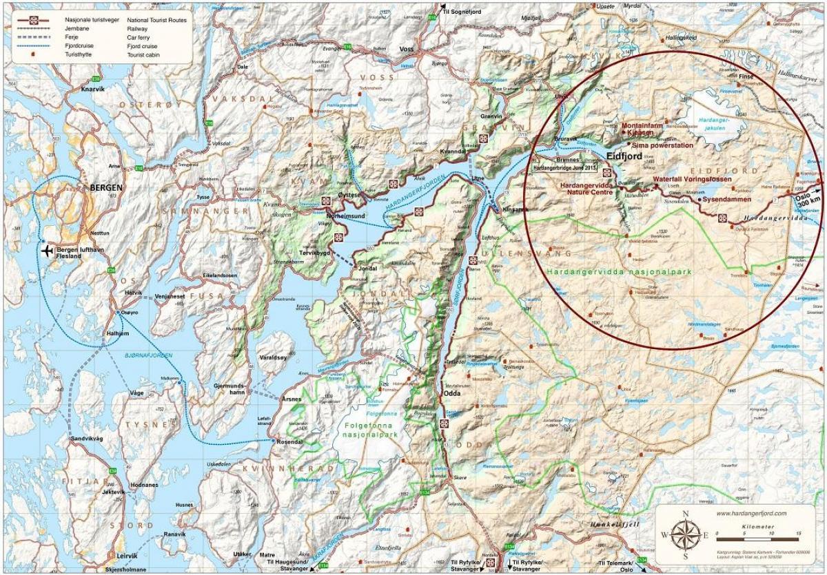 Hardanger Karta Karta 2020