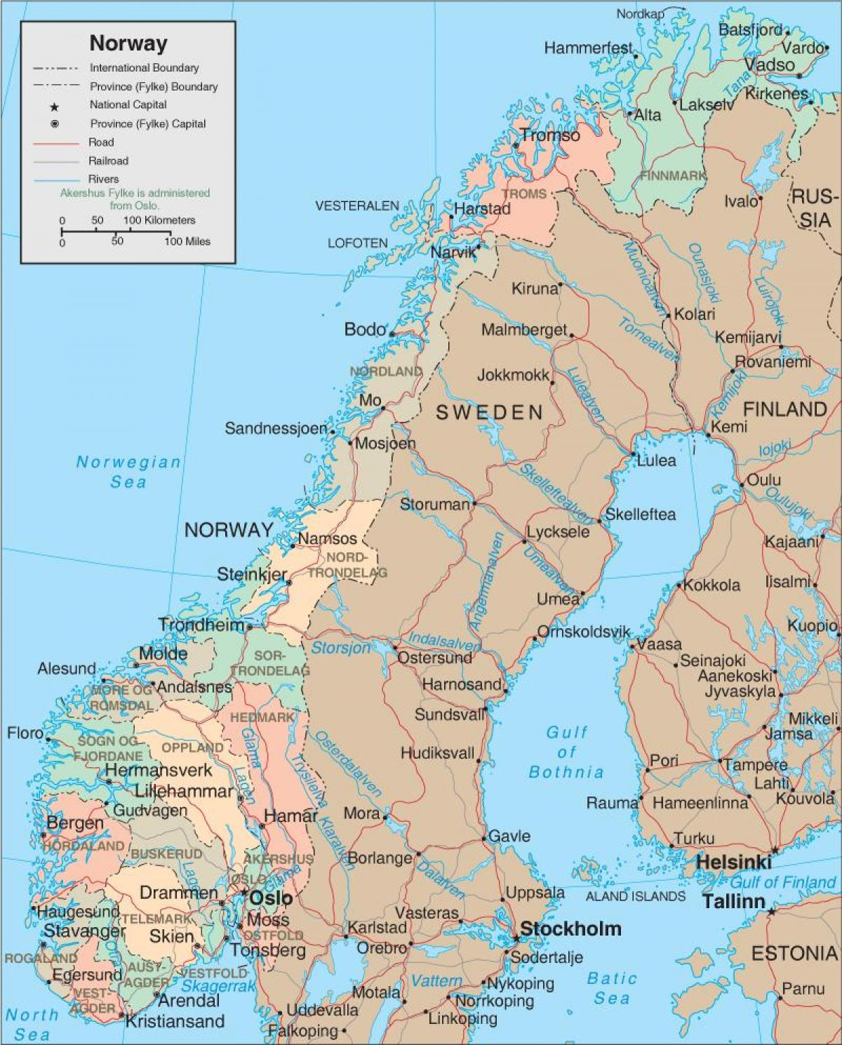 a map of Norway