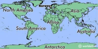 Map of Norway location on world