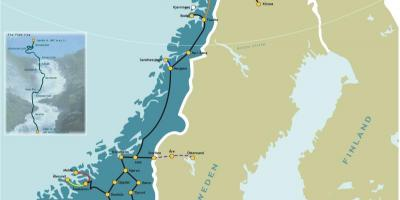 Norway rail map